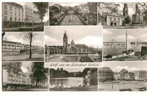 AK / Ansichtskarte Krefeld Postlagerhaus Bismarckplatz Dionysiuskirche Ostwall Bahnhof  Krefeld
