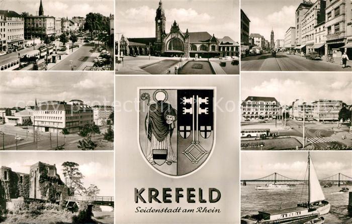 AK / Ansichtskarte Krefeld Hauptpostamt Hafen Stadtansichten Krefeld 0