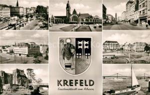 AK / Ansichtskarte Krefeld Hauptpostamt Hafen Stadtansichten Krefeld