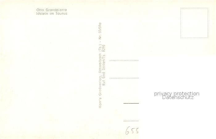 AK / Ansichtskarte Idstein Otto Grandpierre Idstein 1