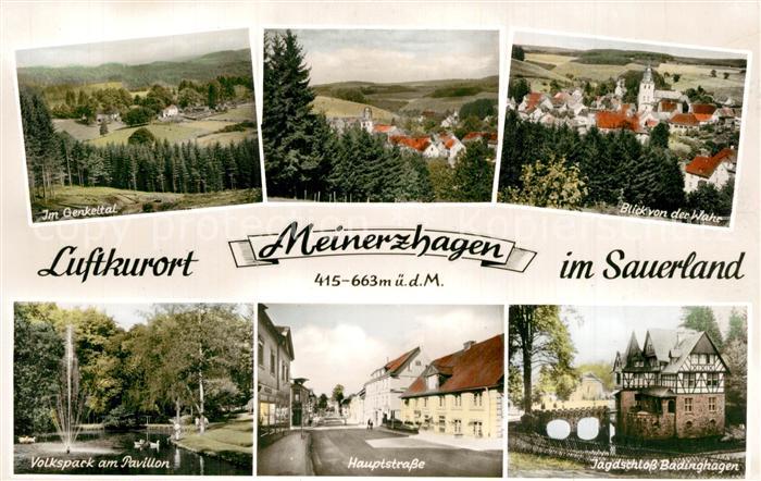 AK / Ansichtskarte Meinerzhagen Genkeltal Volkspark am Pavillon Jagdschloss Badinghagen Meinerzhagen 0
