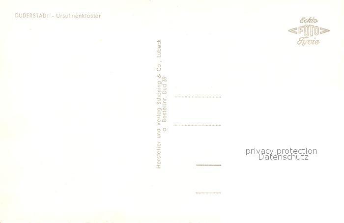 AK / Ansichtskarte Duderstadt Ursulinenkloster Duderstadt 1