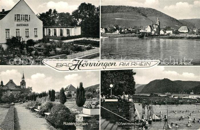 AK / Ansichtskarte Bad_Hoenningen Badehaus Rosengarten Schwimmbad Bad_Hoenningen 0