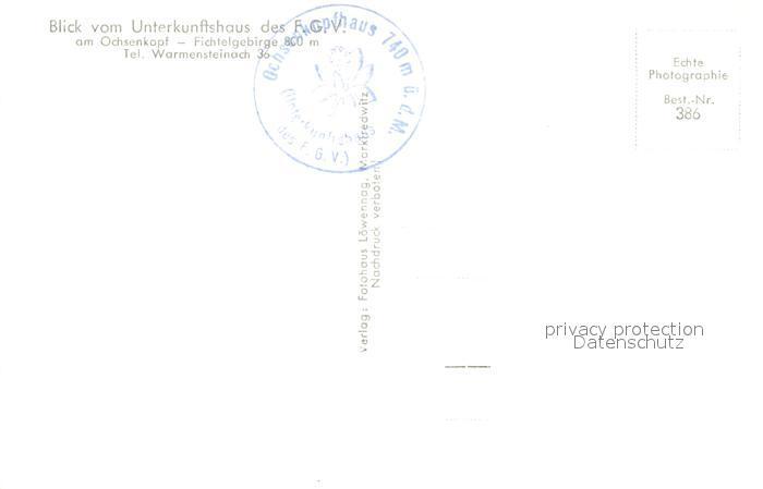 AK / Ansichtskarte Warmensteinach Unterkunftsaus FGV Ochsenkopf Warmensteinach 1