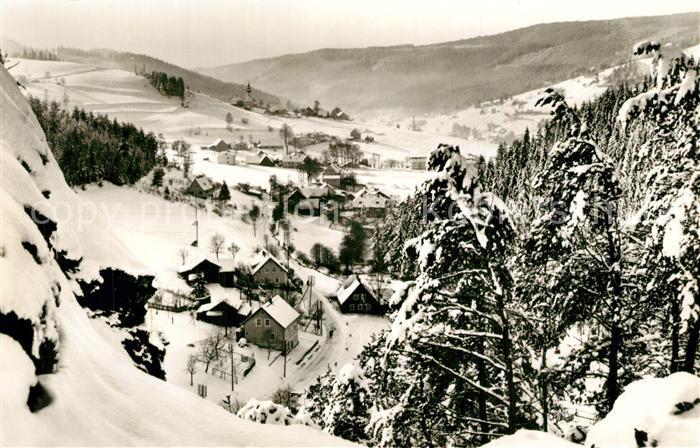 AK / Ansichtskarte Warmensteinach Winterlandschaft Warmensteinach 0