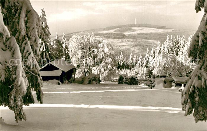 AK / Ansichtskarte Seehaus_Fichtelgebirge Ochsenkopf Winterlandschaft Seehaus Fichtelgebirge 0