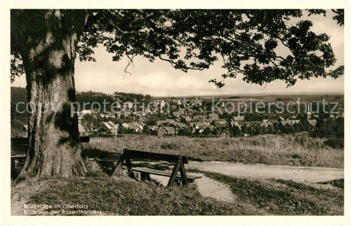 AK / Ansichtskarte Braunlage Panorama von der Rosenthalbank Braunlage 0