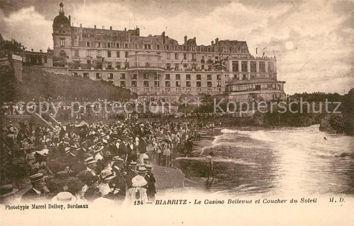 Biarritz_Pyrenees_Atlantiques Casino Bellevue coucher du soleil Biarritz_Pyrenees 0