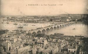 Bordeaux Vue generale Pont Bordeaux