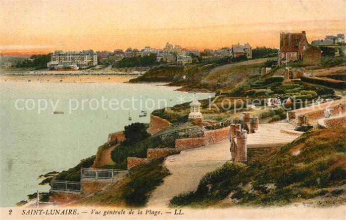 Saint Lunaire Vue generale de la plage Saint Lunaire 0