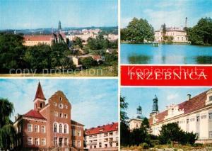 AK / Ansichtskarte Trzebnica_Trebnitz_Schlesien Stadtpanorama Sanatorium Zisterzienserkloster Krankenhaus Trzebnica_Trebnitz