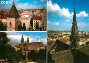 AK / Ansichtskarte Kosice Stadtpanorama Sanktusnik Dom sv. Alzbety Kulturdenkmal Kosice