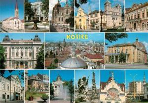 AK / Ansichtskarte Kosice Sehenswuerdigkeiten der Stadt Kosice