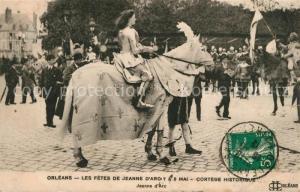 AK / Ansichtskarte Orleans_Loiret Les Fetes de Jeanne d'Arc 8 Mai Cortege Historique Jeanne d Arc Orleans_Loiret