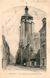 AK / Ansichtskarte Orleans_Loiret Rue et Eglise ND de Recouvrance Orleans_Loiret