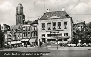 AK / Ansichtskarte Zwolle_Overijssel Centrum met gezicht op de Peperbus Zwolle_Overijssel