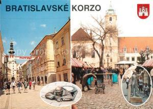 AK / Ansichtskarte Bratislava Korzo Michalska ulica Hlavne namestie Bratislava