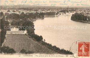 AK / Ansichtskarte Libourne Vue generale prise du Tertre de Fronsac Libourne