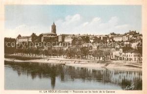 AK / Ansichtskarte La_Reole Panorama sur les bords de la Garonne La_Reole