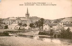 AK / Ansichtskarte Ronchamp_Haute_Saone Place du Marche et l Eglise Ronchamp_Haute_Saone