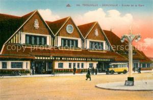 AK / Ansichtskarte Trouville Deauville Entree de la Gare Trouville Deauville