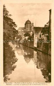 AK / Ansichtskarte Malines_Mechelen_Flandre La Dyle et Eglise de ND d Hanswyck Malines_Mechelen_Flandre