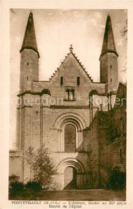AK / Ansichtskarte Fontevraud l_Abbaye Entree de l Eglise Fontevraud l Abbaye