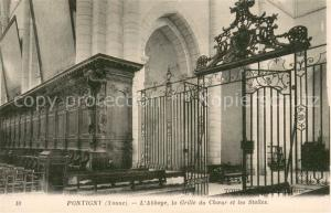 AK / Ansichtskarte Pontigny Abbaye la Grille du Choeur et les Stalles Pontigny