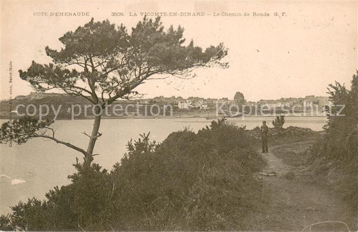 AK / Ansichtskarte La_Vicomte en Dinard Le Chemin de Ronde  0