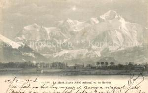 AK / Ansichtskarte Geneve_GE Le Mont Blanc vue de Geneve Geneve_GE
