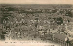 AK / Ansichtskarte Orleans_Loiret Vue generale prise de la Tour de la Cathedrale Orleans_Loiret
