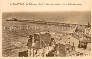 AK / Ansichtskarte Trouville Deauville La Reine des Plages Vue panoramique vers la Jetee promenade Trouville Deauville