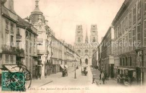 Orleans_Loiret Rue Jeanne d'Arc et la Cathedrale Orleans_Loiret