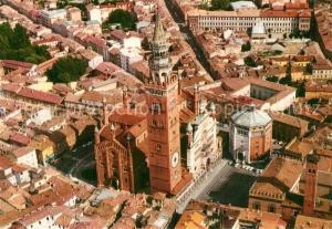 Cremona Duomo e Battistero Torrazzo di F Pecorari Fliegeraufnahme Cremona