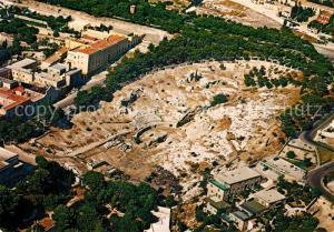 Cagliari Anfiteatro Romano e Viale S Ignazio Fliegeraufnahme Cagliari