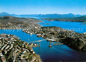 Kristiansund Utsikt over Sorsundet med broen Kristiansund