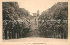 AK / Ansichtskarte Vire_Calvados Esplanade du Chateau Ruines Vire Calvados