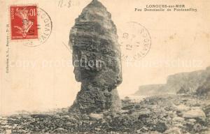 AK / Ansichtskarte Longues sur Mer Feu Demoiselle de Fontenailles Felsen Longues sur Mer