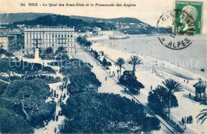 AK / Ansichtskarte Nice_Alpes_Maritimes Quai des Etats Unis et Promenade des Anglais Nice_Alpes_Maritimes