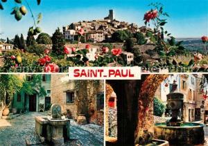 AK / Ansichtskarte Saint_Paul_Cote_d_Azur Vues pittoresques du village Puits Saint_Paul_Cote_d_Azur