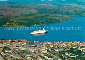 AK / Ansichtskarte Kirkenes Fliegeraufnahme Port  Kirkenes
