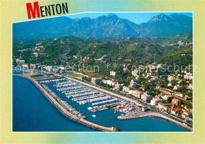 AK / Ansichtskarte Menton_Alpes_Maritimes Fliegeraufnahme Port de Garavan Menton_Alpes_Maritimes