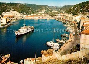 AK / Ansichtskarte Bonifacio_Corse_du_Sud Vue du haut de la Citadelle Port de pecheurs Bonifacio_Corse_du_Sud
