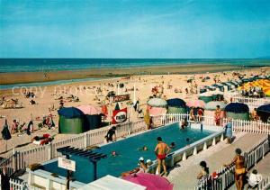 AK / Ansichtskarte Cabourg La piscine et la plage Cabourg