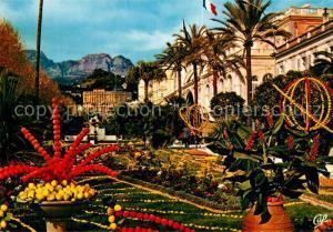 AK / Ansichtskarte Menton_Alpes_Maritimes Cite des Fruits d Or Fetes du Citron dans les Jardins Bioves Menton_Alpes_Maritimes
