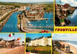 AK / Ansichtskarte Trouville sur Mer Vue aerienne Port Promenade Hotels Trouville sur Mer