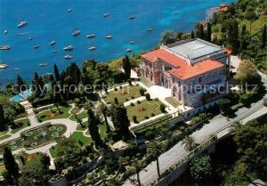 AK / Ansichtskarte Saint Jean Cap Ferrat Jardin Villa Ephrussi de Rothschild vue aerienne Saint Jean Cap Ferrat