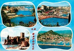 AK / Ansichtskarte La_Napoule_Plage Panorama Cote d Azur Plage Chateau Port vue aerienne La_Napoule_Plage