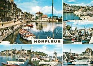 AK / Ansichtskarte Honfleur Port Quai Sainte Catherine La Lieutenance Eglise Quai Saint Etienne Honfleur