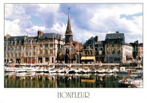 AK / Ansichtskarte Honfleur Kuenstlerdorf an der Muendung der Seine Yachthafen Quai Honfleur
